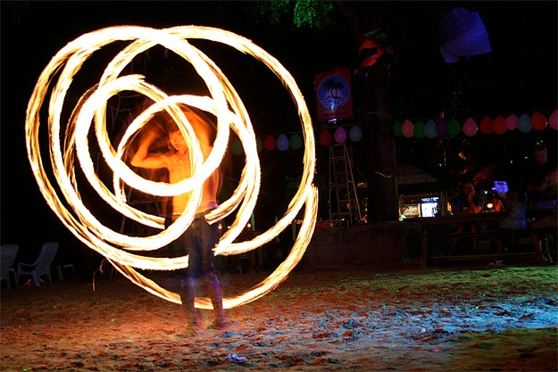 Fire show in Koh Phi Phi