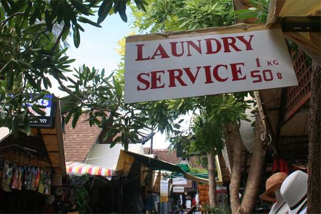 Laundry in Phi Phi