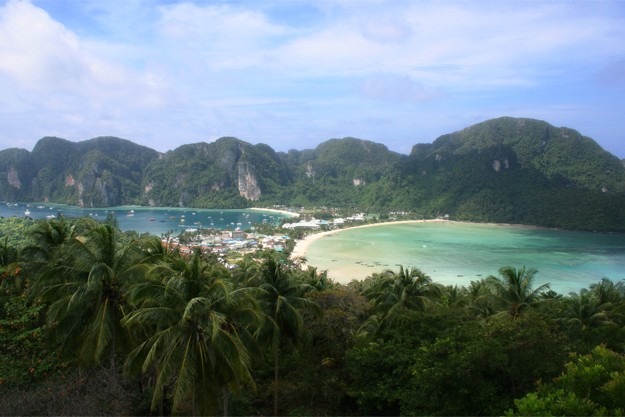 Phi Phi Viewpoint Panorama of the island